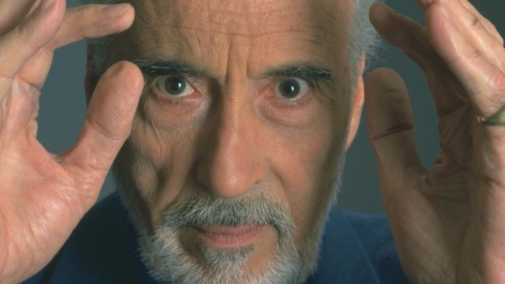 Christopher Lee practicing telepathy