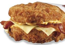 Double Down Sandwich by KFC