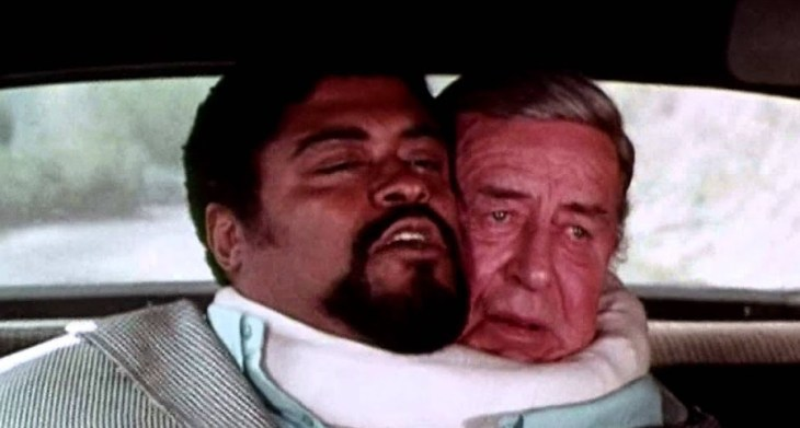 Rosey Greer and Ray Milland in The Thing With Two Heads