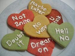 No Way Valentine Cookies