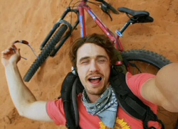 James Franco as Aron Ralston in 127 Hours