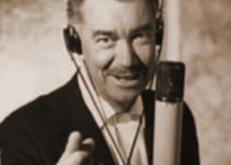 Thurl Ravenscroft with mic