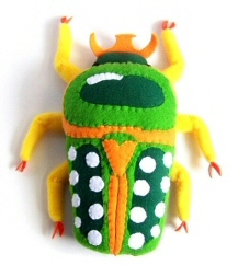 Scarab Beetle plush soft sculpture