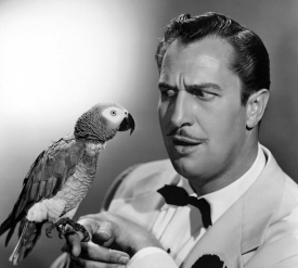 Vincent Price and bird
