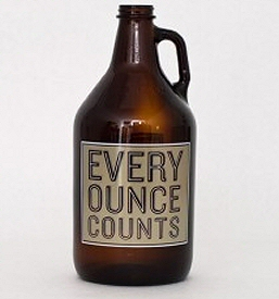 Every Ounce Counts Growler from Norther Brewer