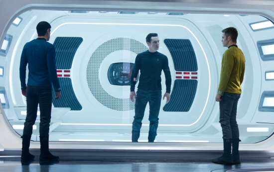 Zachary Quinto, Benedict Cumberbatch and Chris Pine from Star Trek: Into Darkness