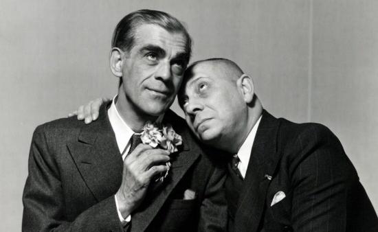 Boris Karloff and Erich Von Stroheim in Arsenic and Old Lace