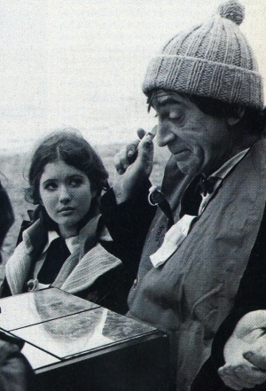 Patrick Troughton from Doctor Who, wearing toboggan