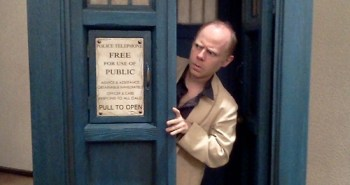 Dan Starkey in the TARDIS