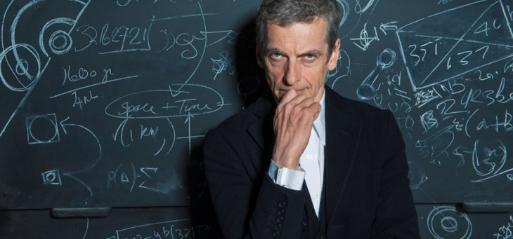 Peter Capaldi Doctor Who blackboard