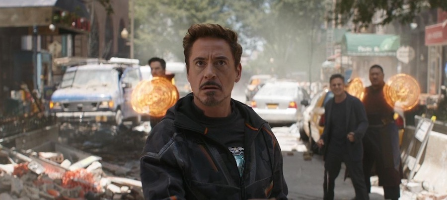 Robert Downey Jr as Tony Stark in Avengers: Infinity War