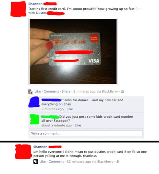 Credit Card For Dumb People Funny Things