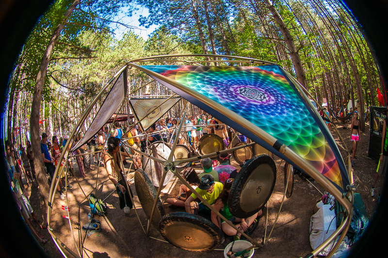 Gong Therapy in the Forest