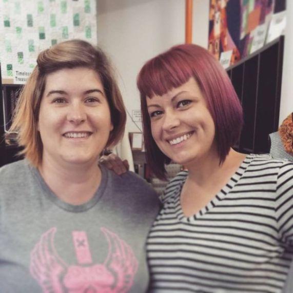 Got to see my dear friend Brenda! Pink Castle Fabric