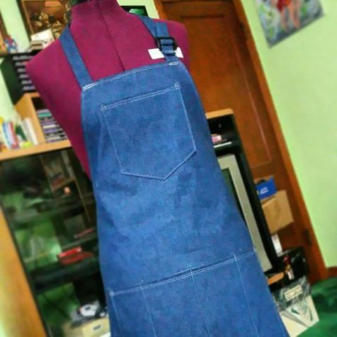 Custom made Apron for a dear friend to give to her employee that was moving away to school