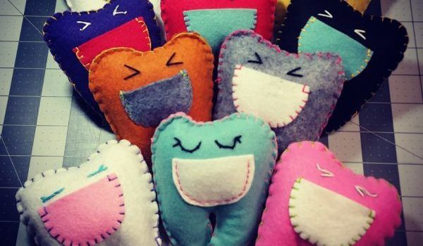 Handmade Wool Felt Tooth Fairy Pillows