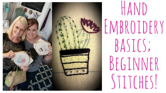 Embroidery Basics; Hand Embroidery Basic Stitches @ Needle, Ink and Thread  | Beavercreek | Ohio | United States