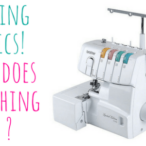 how to thread and use a serger