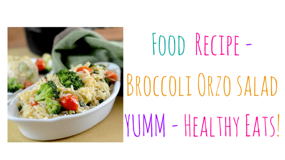 Broccoli Orzo – Perfect Side Dish for Summer Cookouts!