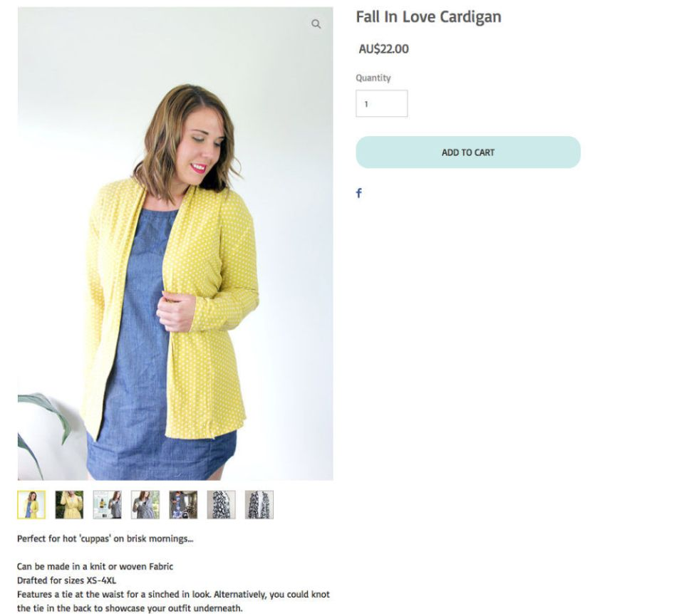 cute cardigan by sew to grow