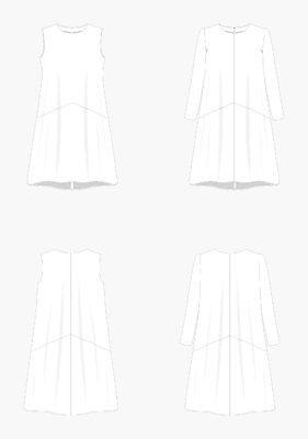 Farrow07-1-281x400 Farrow Dress - Grainline Studio - #13003 - Printed Paper Pattern