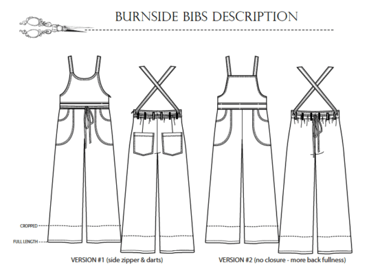 burnside-bib-pattern-description-553x400 Burnside Bibs - Sew House Seven- #114 - Printed Paper Pattern