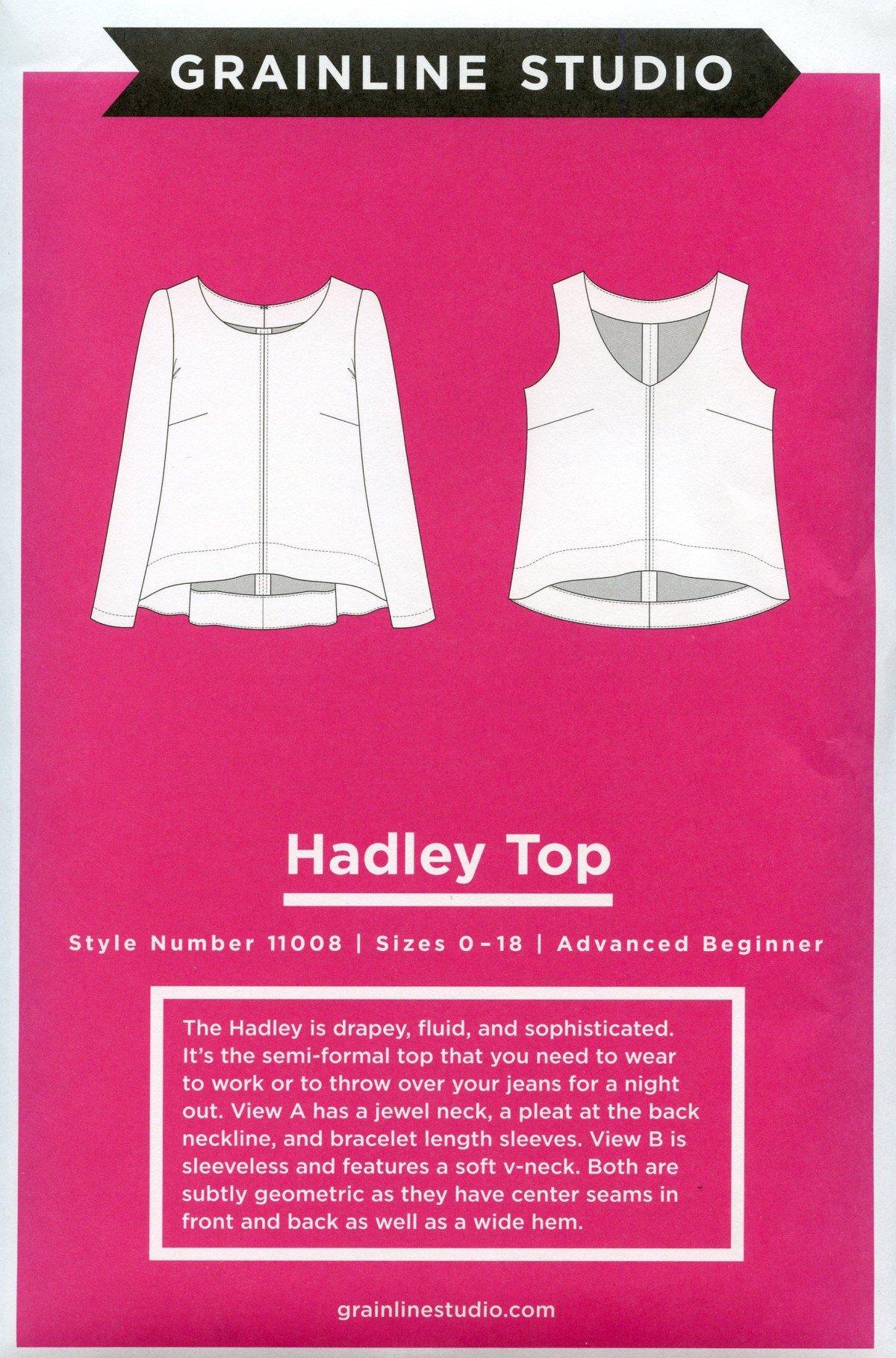 Hadley Top Grainline Studio 11008 Printed Paper Pattern