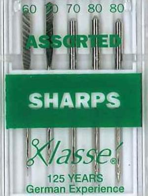 Klasse Sharp / Microtex Machine Needle Assorted