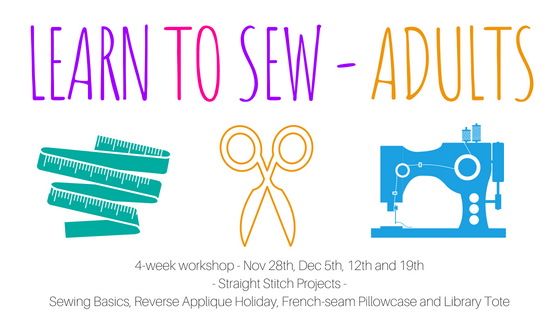 adult101learntosew Adult – Learn to Sew Four Week Workshop - Session 2