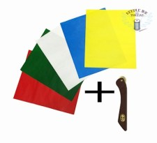 """Amornphan 5 Sheets 5 Colors Sewing Carbon Tracing Paper Transfer Paper 9""""x11"""" Home Sewing Cross Stitch Paint Kit Marking Patterns Fabric Craft"""