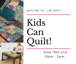 kids learn how to quilt