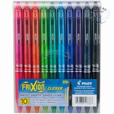 PILOT Frixion Clicker Retractable Pens Retractable Erasable Gel Pens Fine Point (.7) Assorted Color Inks