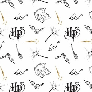 White Literary Double Gauze Harry Potter # 23800145LE-1