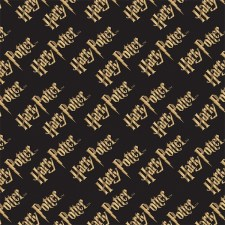 Camelot Fabrics - Black Harry Potter Logo -(# 2380217LE-1)