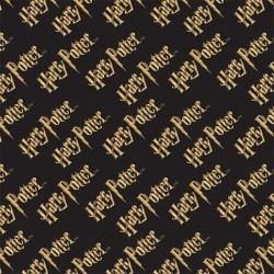 Camelot Fabrics - Black Harry Potter Logo -(# 2380217LE-1)