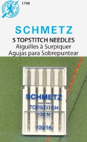 Schmetz Topstitch Sewing Machine Needles 130 N Size 100/16