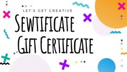 sewtificate gift card title card