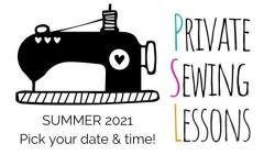 summer private sewing lessons