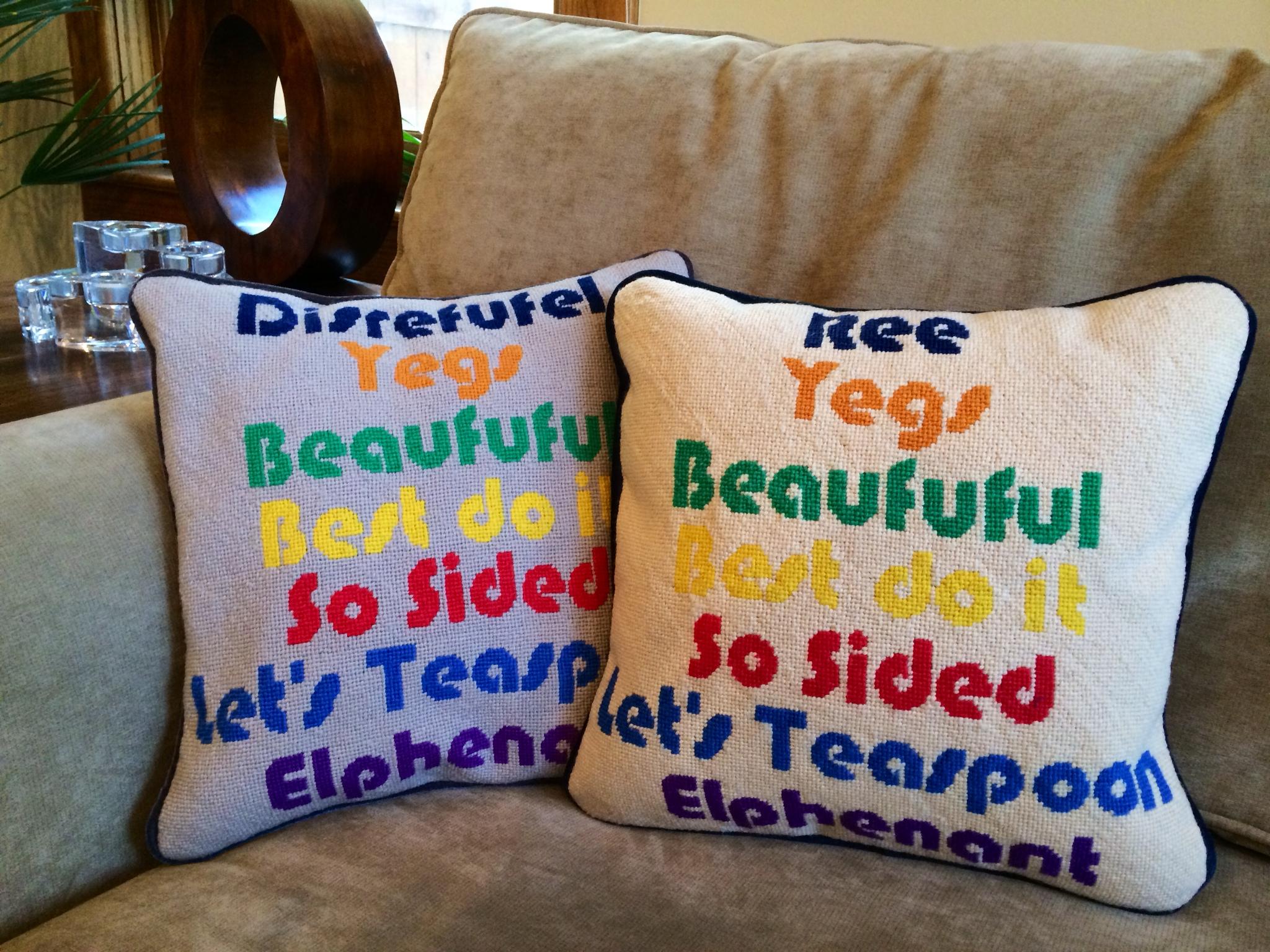 custom needlepoint pillows