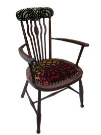 Sunset Spindle chair with Christian Lacroix designer fabric.