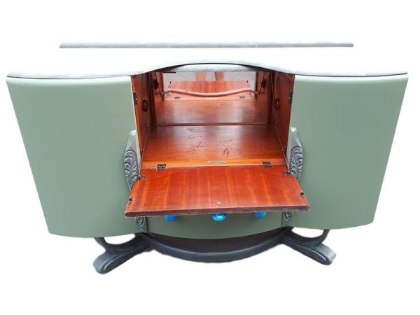 1950's Beautility Cocktail Cabinet - showing inner area for your favourite cocktail ingredients.