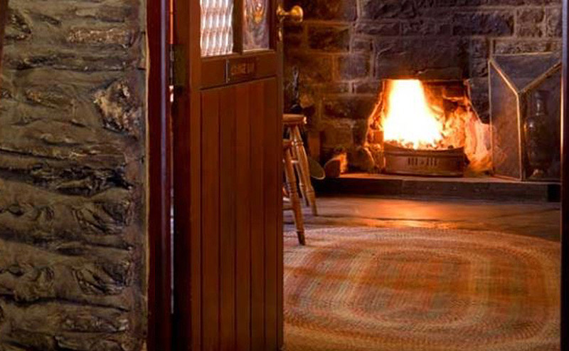 Antique settles now cosy at Y Talbot Hotel, Tregaron