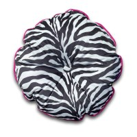 Zebra pattern designer round cushion