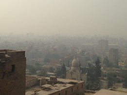 photo of cairo skyline in a haze of pollution