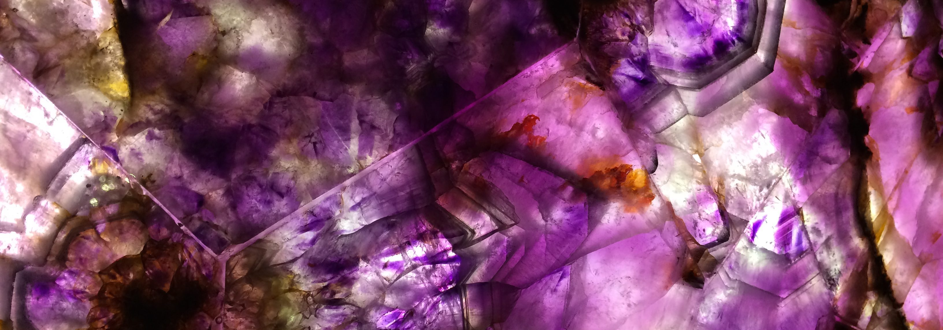 a slice of purple stone