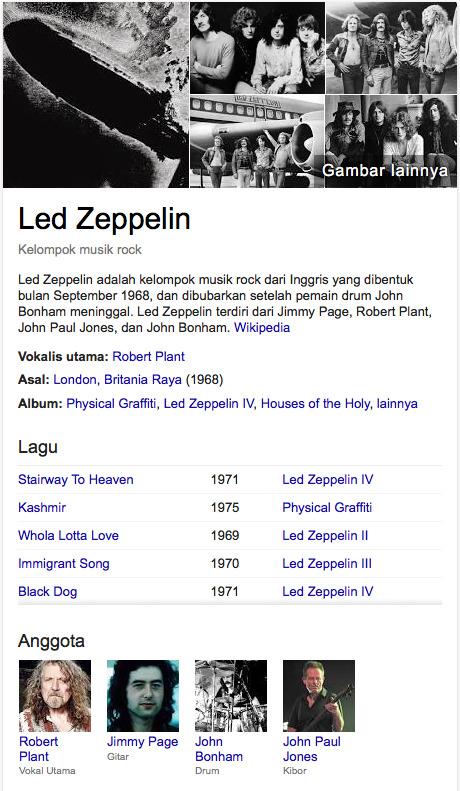 Led Zeppelin band rock terhebat saat ini
