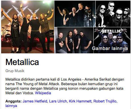 Metallica daftar band rock legendaris