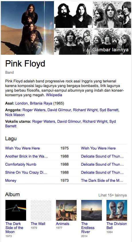 Pink Floyd grup band rock terbaik di dunia saat ini