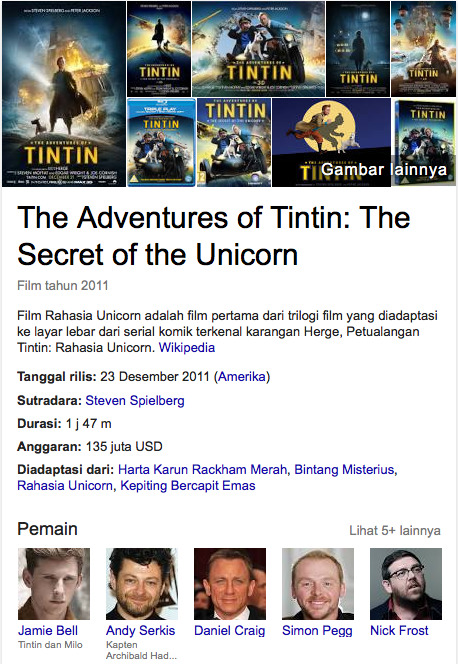 The Adventures of Tintin: The Secret of the Unicorn 2011