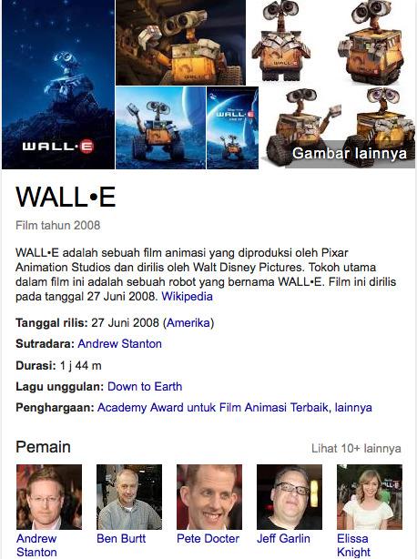 Wall E 2008